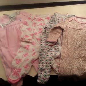 Baby Girl Sleep Suit Bundle 3 months
